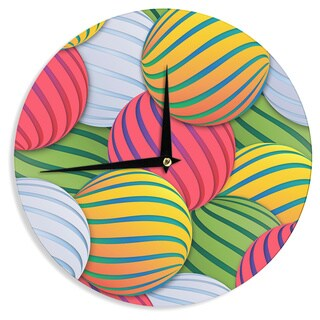 KESS InHouse Danny Ivan 'Melons' Pink Green Wall Clock