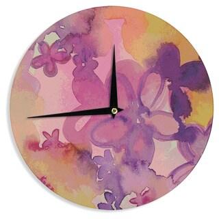 KESS InHouse Louise Machado 'Dissolved Flowers' Wall Clock