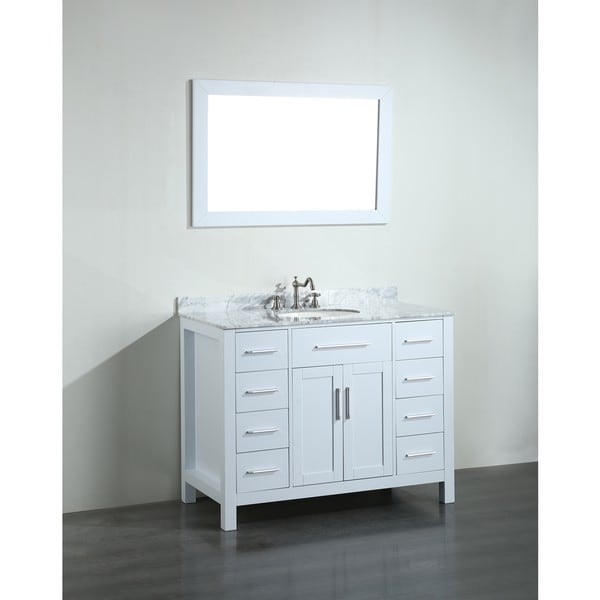43'' Bosconi SB-252-7WHCM Contemporary Single Vanity