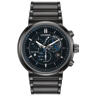 Citizen Eco-Drive Men's Black Ion-plated Stainless Steel Watch