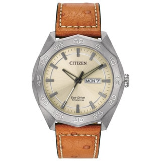 Citizen Eco-Drive Men's AW0060-11P Titanium Watch