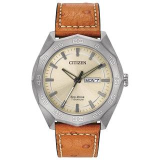 Citizen Eco-Drive Men's AW0060-11P Titanium Watch