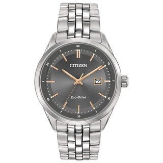 Citizen Men's BM7251-53H Eco-Drive Pairs Silver Stainless Steel Watch