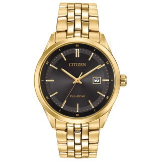 Citizen Men's BM7252-51E Eco-Drive Pairs Black/Goldtone Stainless Steel Watch