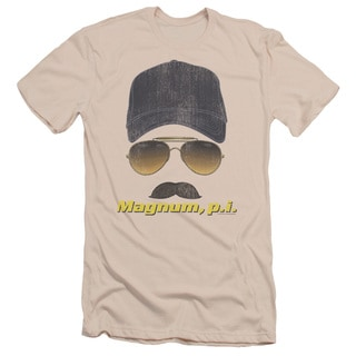 Magnum Pi/Geared Up Short Sleeve Adult T-Shirt 30/1 in Cream