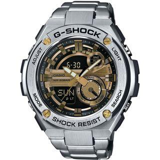 Casio Men's GST210D-9ACR 'G-Shock' Analog-Digital Stainless Steel Watch