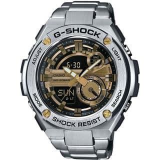 Casio Men's GST210D-9ACR 'G-Shock' Analog-Digital Stainless Steel Watch|https://ak1.ostkcdn.com/images/products/12444107/P19258959.jpg?impolicy=medium
