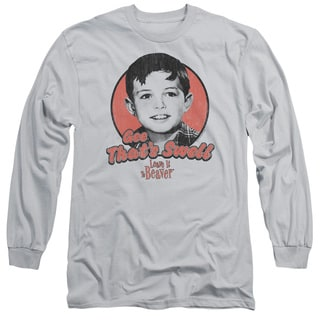 Leave It To Beaver/Swell Long Sleeve Adult T-Shirt 18/1 in Silver