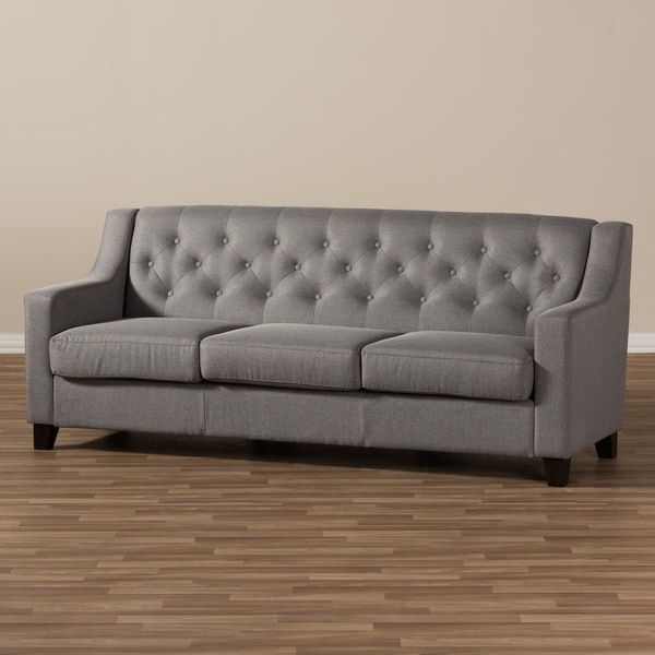 Good Baxton Studio Euthalia Modern And Contemporary Tufted Sofa   Free Shipping  Today   Overstock.com   19259080