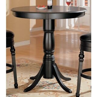 Coaster Company Black Wood Round Bar Table