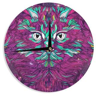 KESS InHouse Danny Ivan 'Space Cat' Wall Clock