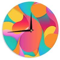 KESS InHouse Danny Ivan 'Still Life' Warm Abstract Wall Clock
