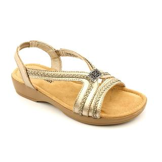 Minnetonka Women's Galina Goldtone Leather Sandals