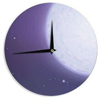 KESS InHouseFotios Pavlopoulos 'Full Moon' Night Sky Wall Clock