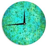 KESS InHouseEbi Emporium 'Make A Wish II' Teal Green Wall Clock