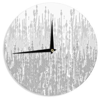 KESS InHouseFrederic Levy-Hadida 'Drops' Gray Wall Clock