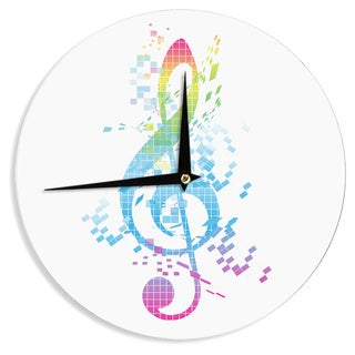 KESS InHouseFrederic Levy-Hadida 'Rainbow Key' Multicolor Music Wall Clock