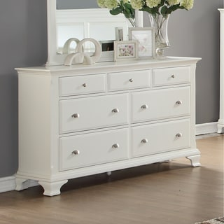 Laveno White Wood 7-Drawer Dresser