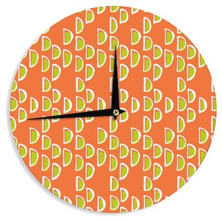 KESS InHouseHolly Helgeson 'Geo Seed' Orange Wall Clock