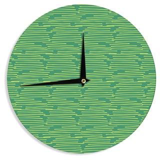 KESS InHouseHolly Helgeson 'Twiggy' Green Line Wall Clock