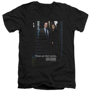 Law & Order SVU/SVU Short Sleeve Adult T-Shirt V-Neck in Black