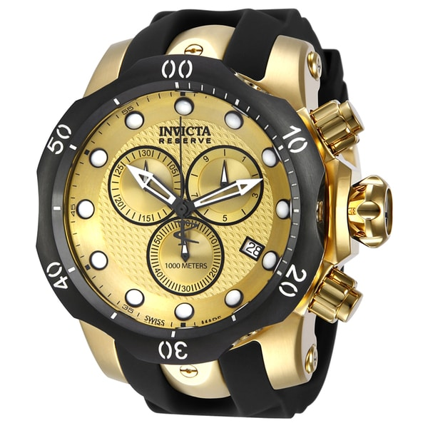 18a5e8b26 Shop Invicta Men's 16150 Venom Quartz Chronograph Gold Dial Watch - Free  Shipping Today - Overstock - 12444553