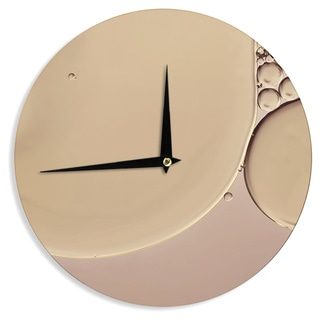 KESS InHouseIngrid Beddoes 'A Touch of Pink' Tan Wall Clock