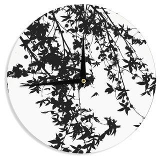 KESS InHouseIngrid Beddoes 'Black on White' Wall Clock