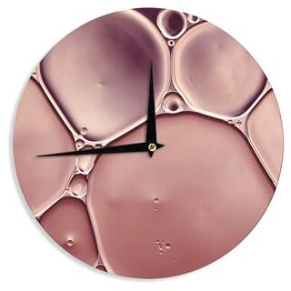 KESS InHouseIngrid Beddoes 'Dusty Pink' Blush Wall Clock