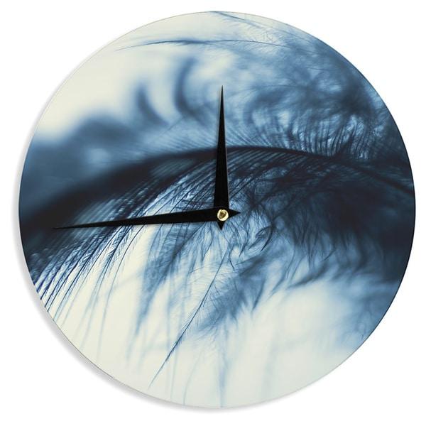 KESS InHouseIngrid Beddoes 'Fall in Blue' Wall Clock