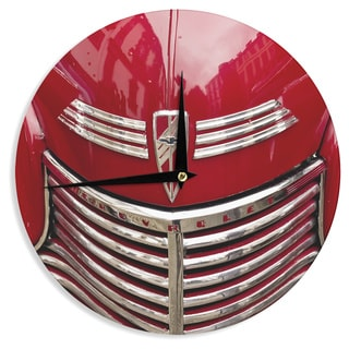 KESS InHouseIngrid Beddoes 'Red Chevy' Wall Clock