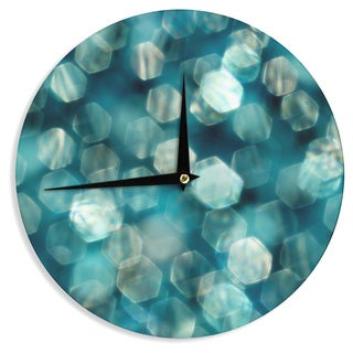KESS InHouseIngrid Beddoes 'Shades of Blue' Wall Clock