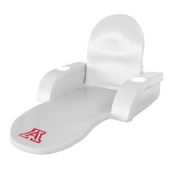 University of Arizona Logo White Vinyl Folding Lounger