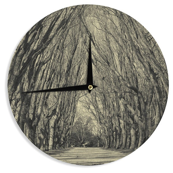 KESS InHouseIngrid Beddoes 'Where Trees Still Whisper' Wall Clock