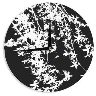 KESS InHouseIngrid Beddoes 'White on Black' Wall Clock