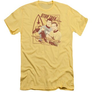 Star Trek/Shoot That Thing Short Sleeve Adult T-Shirt 30/1 in Banana