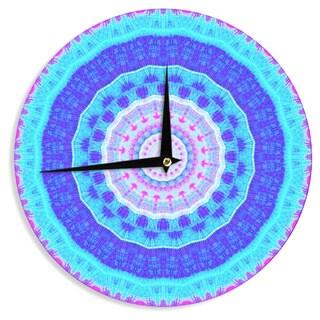 KESS InHouseIris Lehnhardt 'Summer Colors' Pink Blue Wall Clock