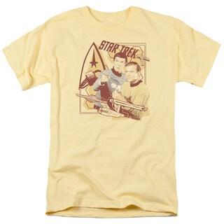 Star Trek/Shoot That Thing Short Sleeve Adult T-Shirt 18/1 in Banana