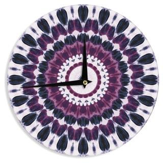 KESS InHouseIris Lehnhardt 'Batik Pattern' Purple Geometric Wall Clock