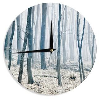 KESS InHouseIris Lehnhardt 'Blues' Gray Wall Clock