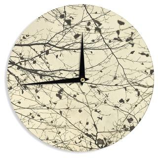 KESS InHouseIris Lehnhardt 'Boughs Neutral' Wall Clock