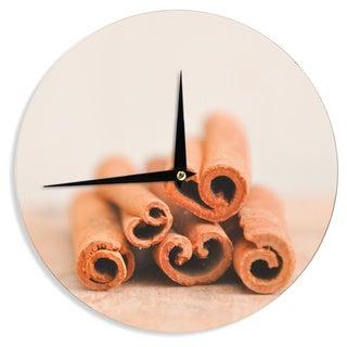 KESS InHouseIris Lehnhardt 'Cinnamon' Brown Wall Clock
