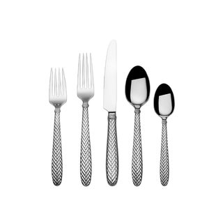 Wallace Reins Silver Stainless Steel 20-piece Flatware Set