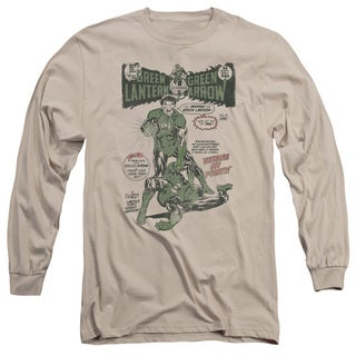Green Lantern/Beware My Power Long Sleeve Adult T-Shirt 18/1 in Sand