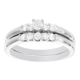 H Star 14k White Gold 1/2ct Diamond Bridal Set (I-J, I2-I3)