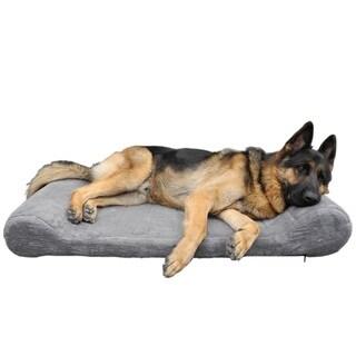 Go Pet Club Grey/Brown Foam Orthopedic Dog Bed