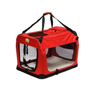 Go Pet Club Red Nylon Foldable Pet Crate