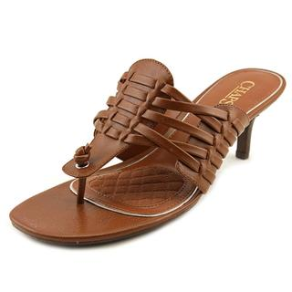 Chaps Women's 'Olivia' Faux Leather Sandals