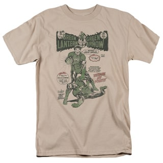 Green Lantern/Beware My Power Short Sleeve Adult T-Shirt 18/1 in Sand