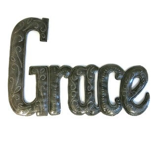 Handcrafted Recycled Steel Drum Grace Wall Art (Haiti)